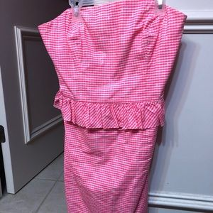 Lily Pulitzer pink strapless dress